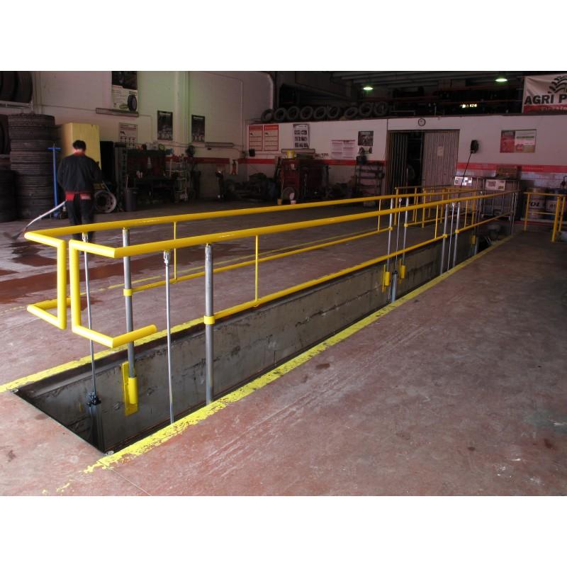 Valla de protección de fosos para talleres mecánicos