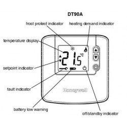 termostato digital honeywell dt90a