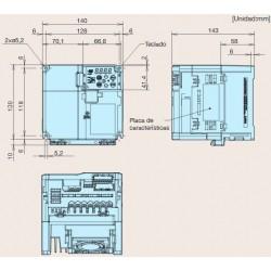 Variado de frecuencia monofásico Fuji Frenic ACE 2,2kW