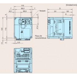 Variado de frecuencia monofásico Fuji Frenic ACE 1,5kW