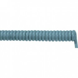 Cables espiral extensible PUR 25G0,5 1,5m
