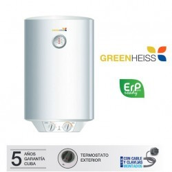 Termo eléctrico horizontal Greenheiss FIVE ERP 80L