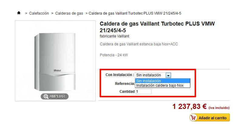 caldera+instalación