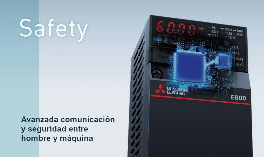 Variadores Mitsubishi FR-E800 Seguridad