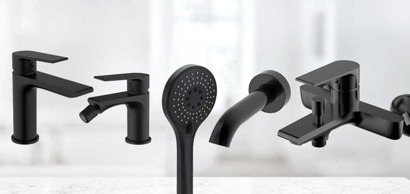 Grifería negra para cocina, baño y ducha Kios Stillö