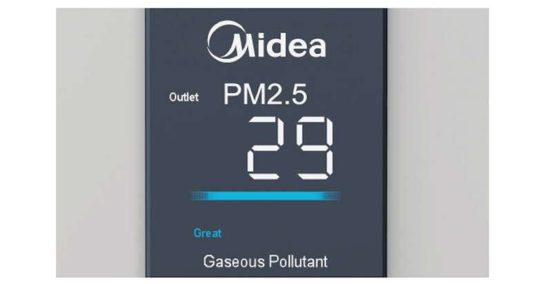 Indicador Calidad aire purificador Air Pure Boost Midea