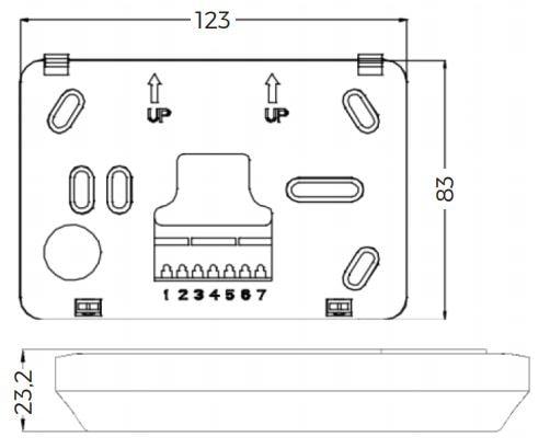Medidas termostato frio/calor solver s2